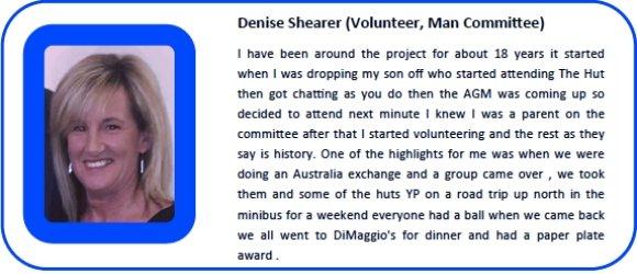 Denise Shearer (Volunteer, Man Committee
