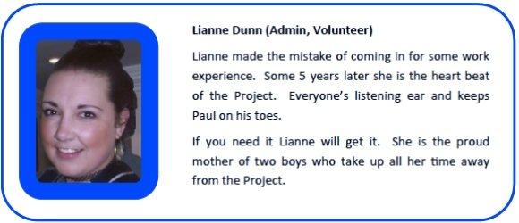 Lianne Dunn Admin Volunteer