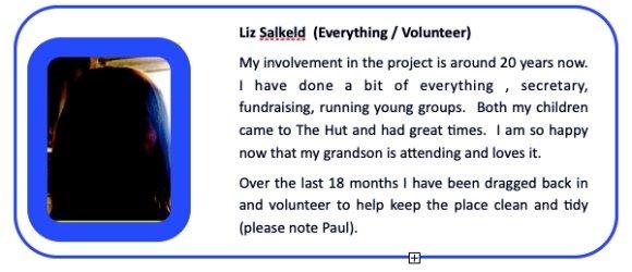 Liz Salkeld Everything Volunteer