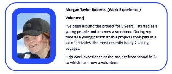 Morgan Taylor Roberts Work Experience Volunteer